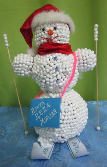 Снеговик почтальон своими руками