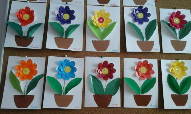 конспект занятия открытка с цветами красивые