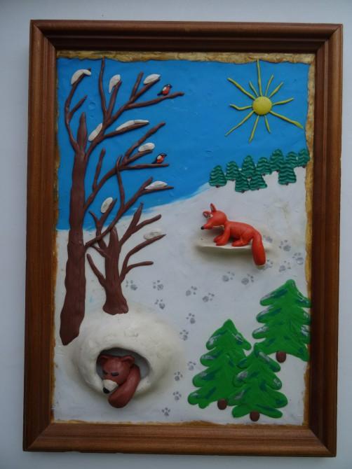 метод картинки из пластилина про зиму это икона