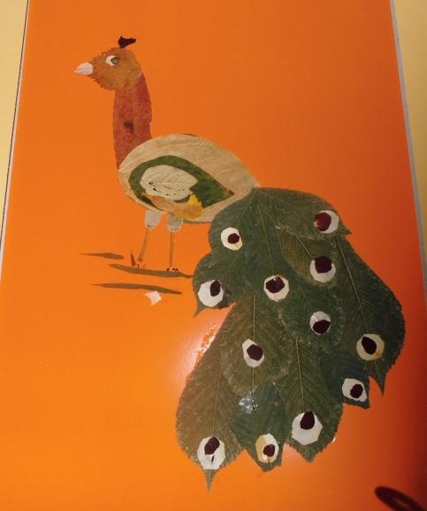 Поделка птица на листе
