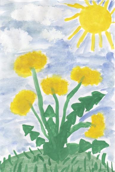 Детские рисунки одуванчик