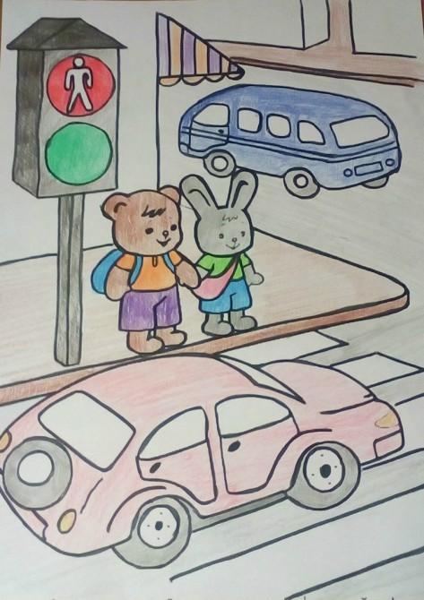 рисунок на обж правила дорожного движения любитель