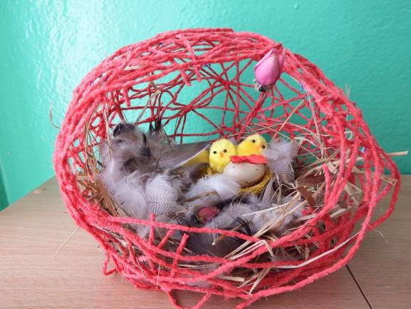 Как сделать гнездо для поделки