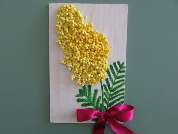 Гифки, мимоза открытки своими руками для малышей