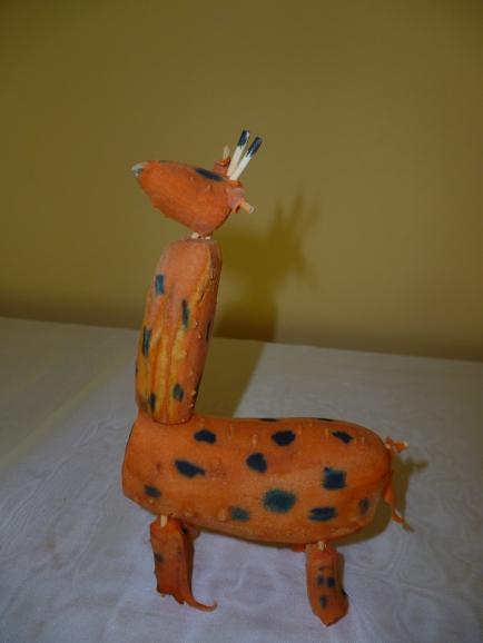 Поделки из моркови жирафа своими руками для сада