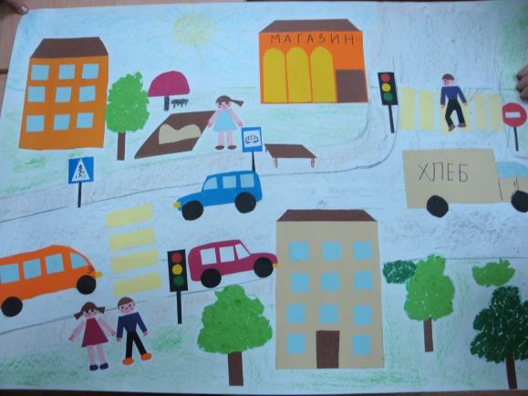 Коллаж на тему правила дорожного движения