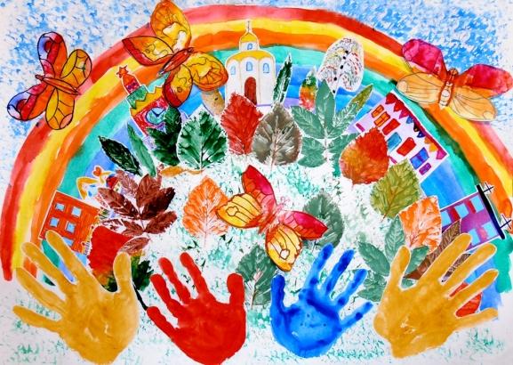 Рисунок природы на детский конкурс