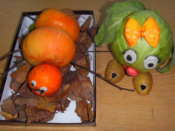 Сделать осеннюю поделку своими руками в детский сад из овощей