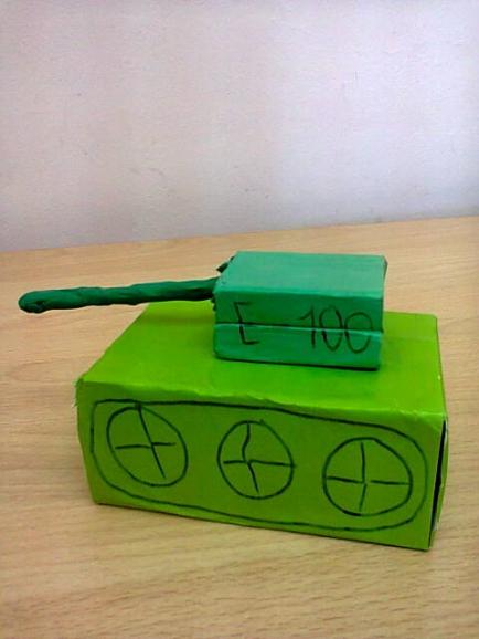 появилась танк из спичечных коробков картинки подарок