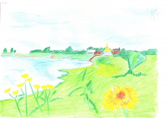 Детские рисунок краснодарского края