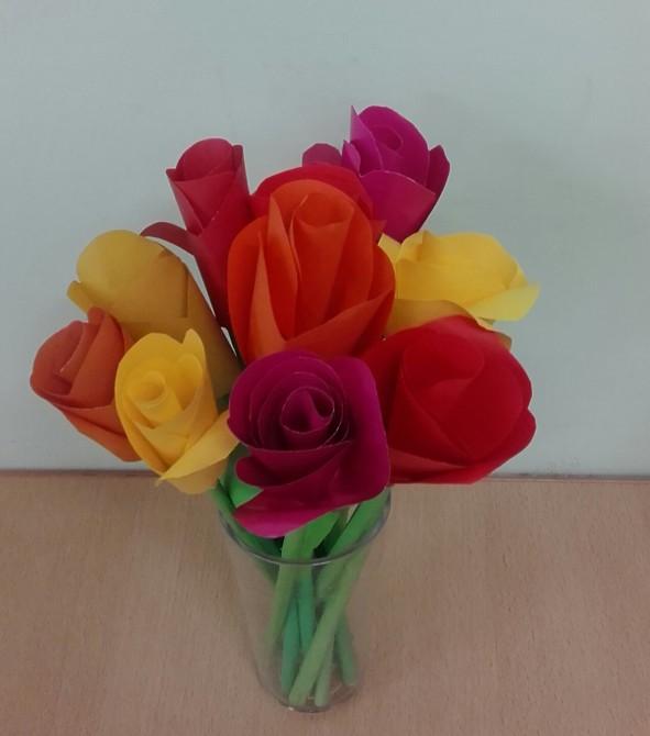 Поделка цветы моей маме