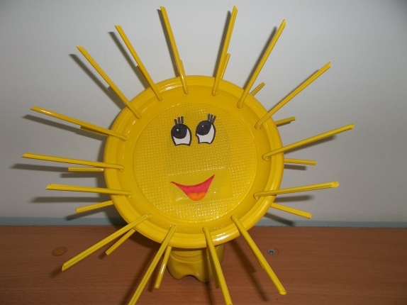 Поделка солнышко в детский сад из одноразовой тарелке 47