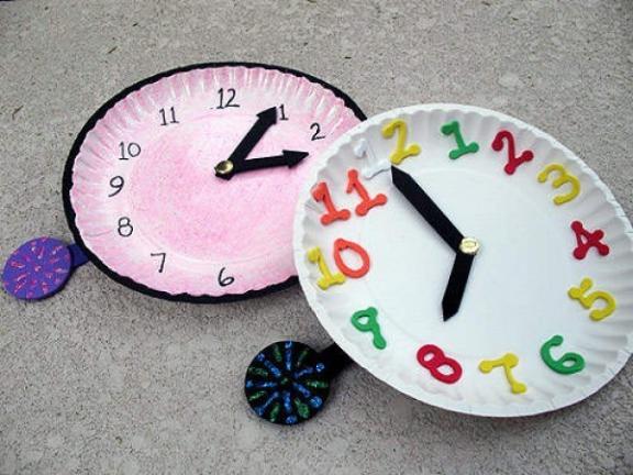 Часы поделка своими руками из картона
