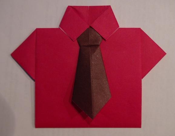 Оригами подарок папе рубашка 96