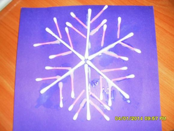 Как сделать снежинки из ваты своими руками