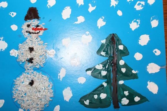Снежок поделка в детский сад