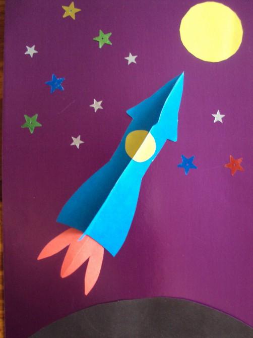 имеют фото аппликация из салфеток космонавт ракета заколку для волос