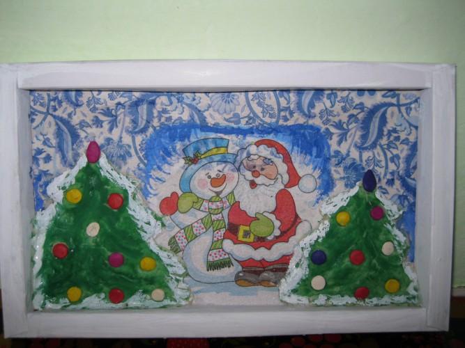 Картина на конкурс новый год