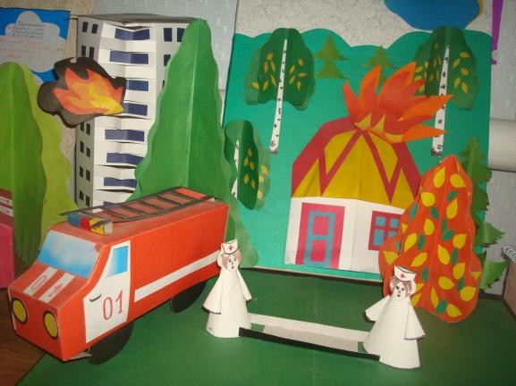 Поделки для детского сада пожарная тема