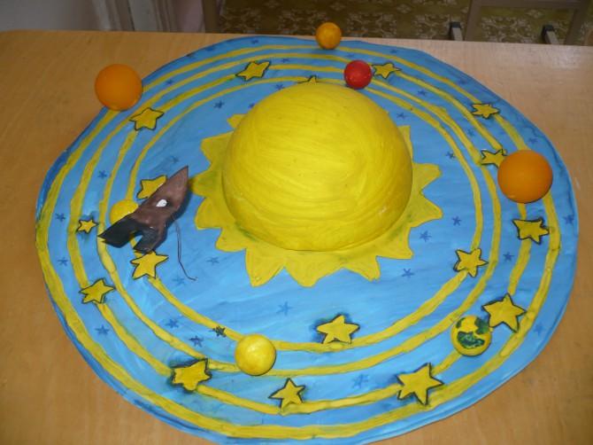 Солнечная система своими руками поделка из пенопласта 4