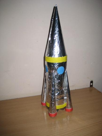 Ракета из своими руками для детей из бумаги 644