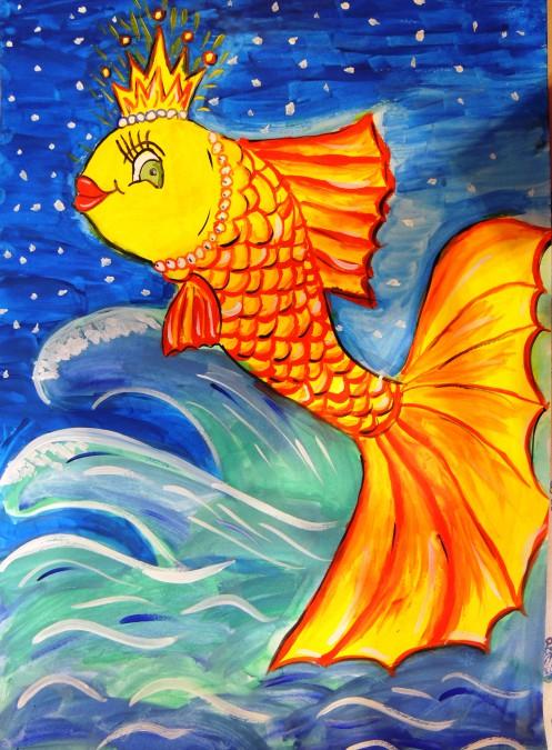 Картинка рыбки по пушкину