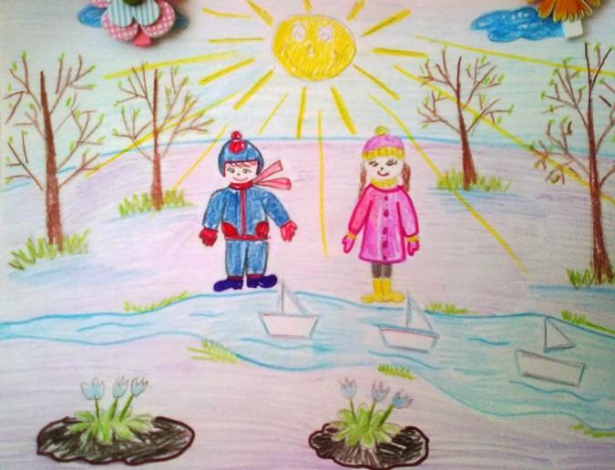 рисунки весна детские конкурс на тему