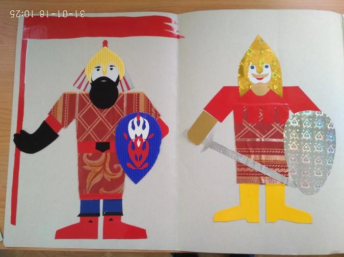 Дедушке, открытка богатыри земли русской в детский сад
