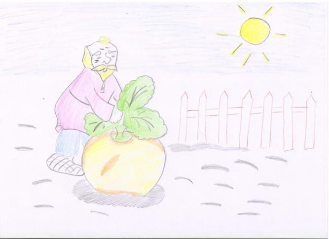 сегодня рисунки к сказке репка карандашом сих пор