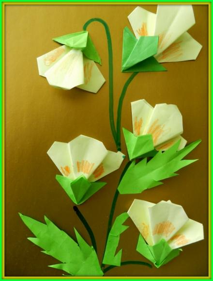 Цветы из оригами мастер класс