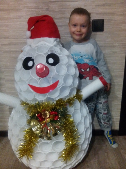 Поделка снеговик своими руками из пластиковых стаканчиков пошагово - Агентство праздников