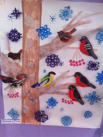 Поделка птицы зимующие 39
