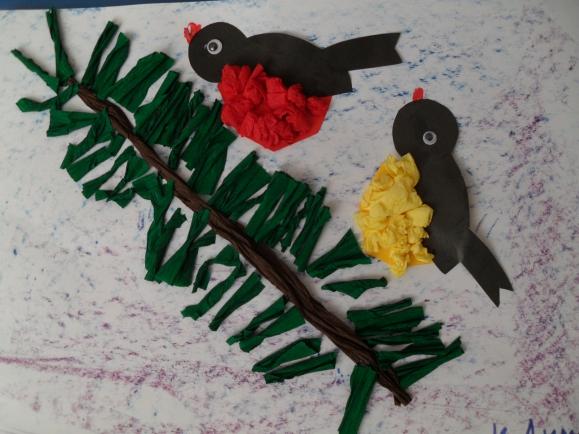 Поделка птицы зимующие 72