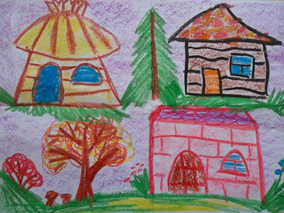 Картинки сказочных домиков для рисования старшая группа