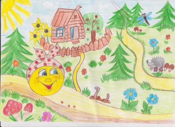 Иллюстрации к сказке колобок нарисованные детьми
