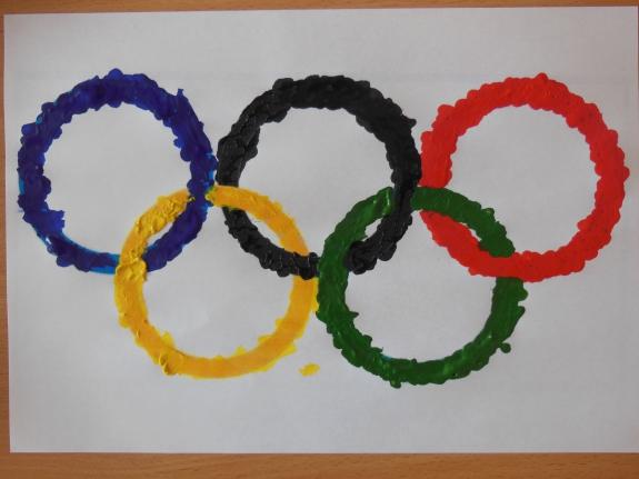 олимпийские кольца картинки своими руками некоторых людей
