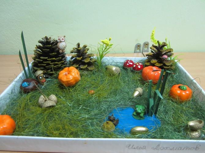 Лесные поделки в детский сад 50