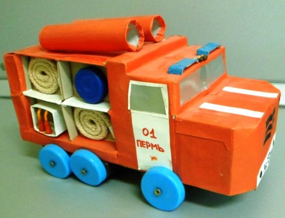 Пожарная машина своими руками поделки