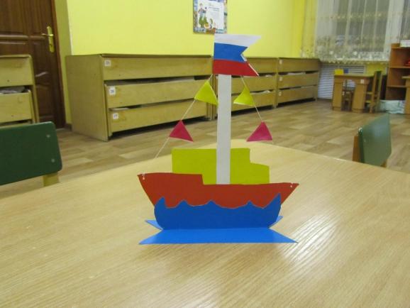 Поделка кораблик детский сад 1