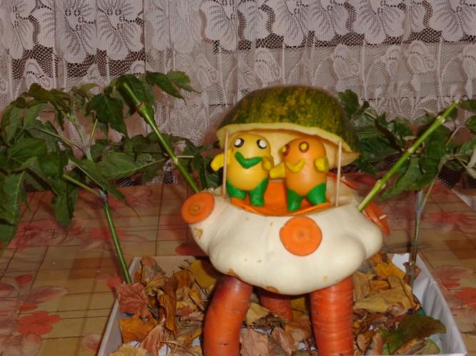 Поделка из овощей тема космос