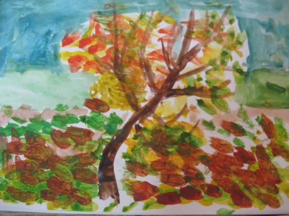 Картинки листопада рисовать