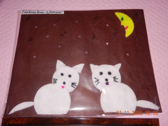 Поделки из ватных дисков кошка 66