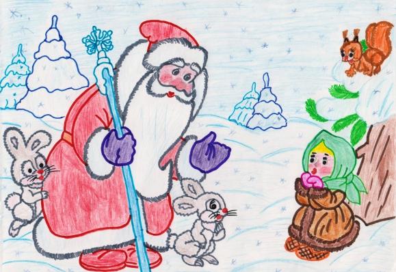 Детские рисунки мороза ивановича