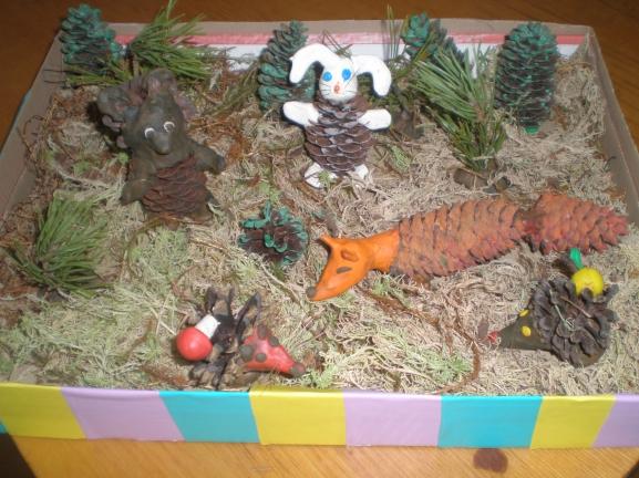Лесные поделки в детский сад 26
