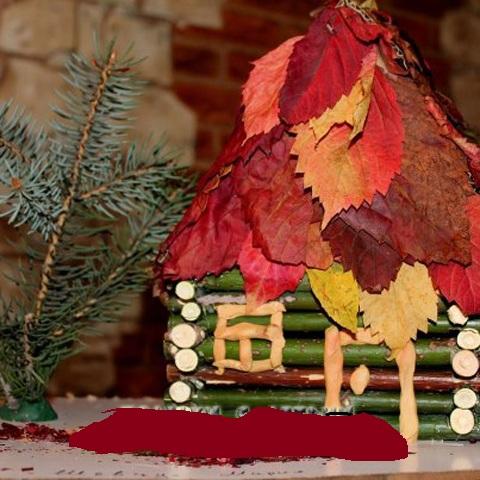 Как сделать домик на поделку осени