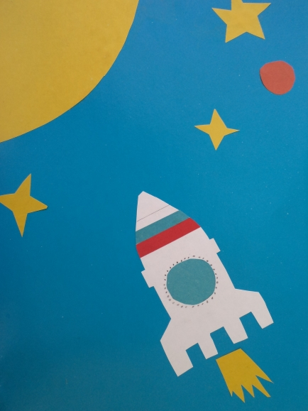 фото аппликация из салфеток космонавт ракета рождения когда