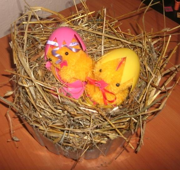 Поделки своими руками гнездо с птенцами 89