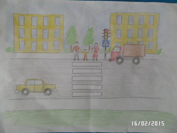 Нарисовать рисунок на тему пдд 4 класс