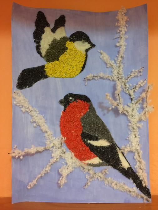 Поделка птицы зимующие 89