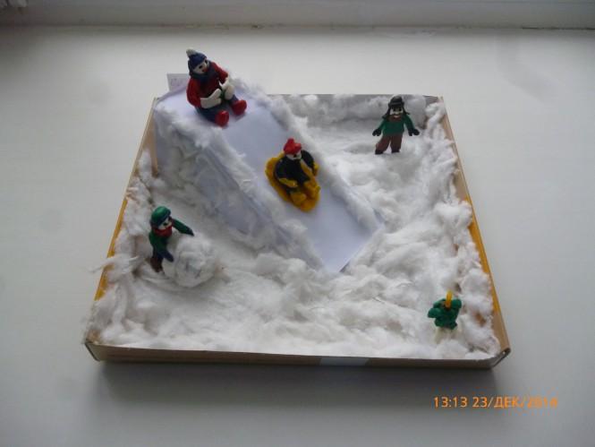 Зимние поделки в детский сад из пластилина 94